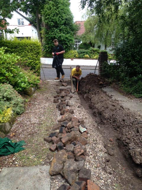 drain excavation required in Glasgow
