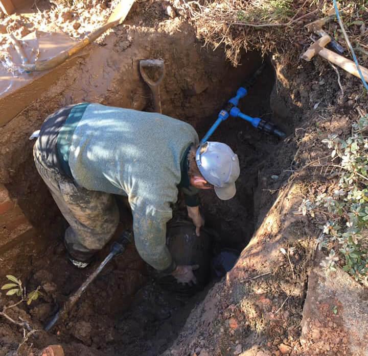 collapsed drain repair